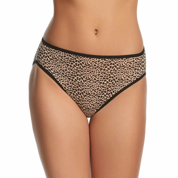 Felina Ladies' Cotton Stretch,  Hi Cut Bikini (6-pack) - ADDROS.COM