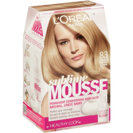 L'Oreal Sublime Mousse by Healthy Look Hair Color, 83 Golden Medium Blonde - ADDROS.COM