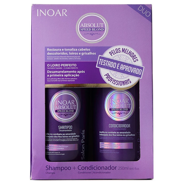 INOAR Speed blond Duo Kit - Shampoo + Conditioner