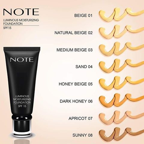 NOTE COSMETICS Luminous Moisturizing Foundation - SPF-15, 1.18 FL OZ (35 ml) - ADDROS.COM