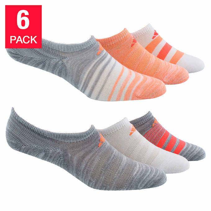 ADIDAS Women's Superlite Climate Socks - Orange (6 Pairs)