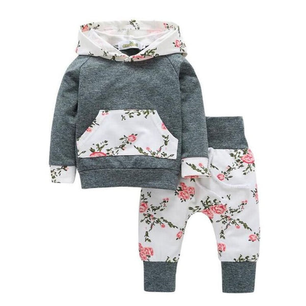 Set 2 PCS Set Pullover Cotton Arrow Printed T-shirts + Pants Infant Clothing