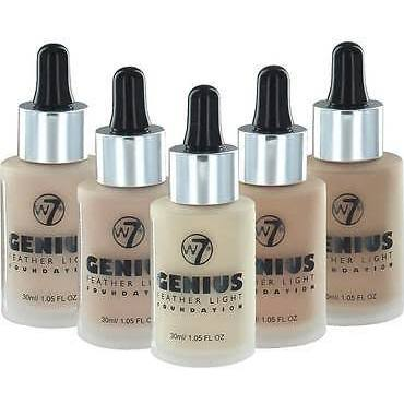 W7 Cosmetics Genius Feather Light Foundation - 1.05 Fl Oz (30 ml) - ADDROS.COM