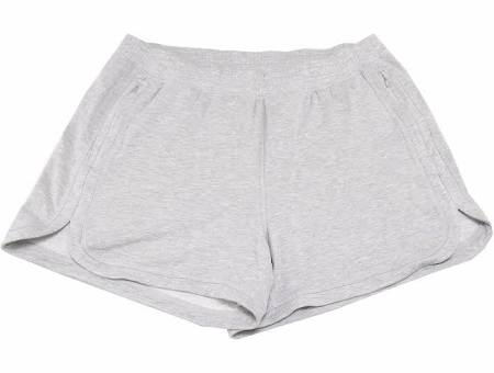 Active Life Womens Active Terry W/Zipper Pockets Short, Heather Grey