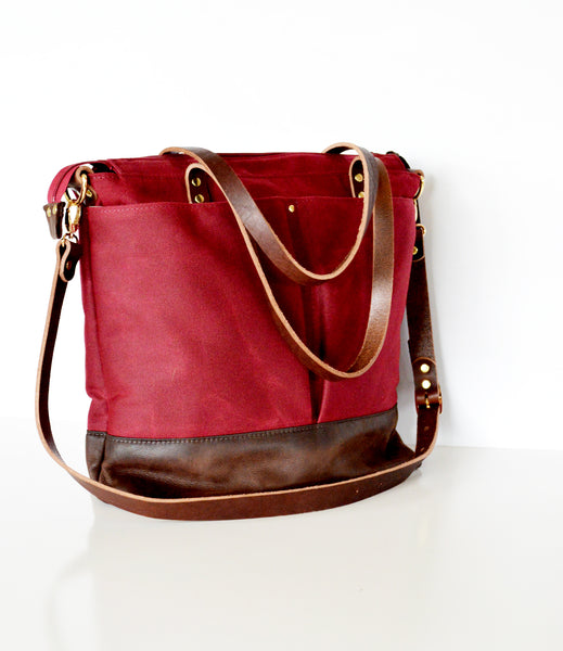 Burgundy and dark brown diaper bag 2.jpg