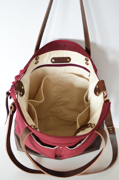 Burgundy and dark brown diaper bag 4.jpg