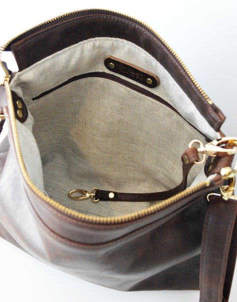 Leather hobo Dark Brown Antique 5.jpg