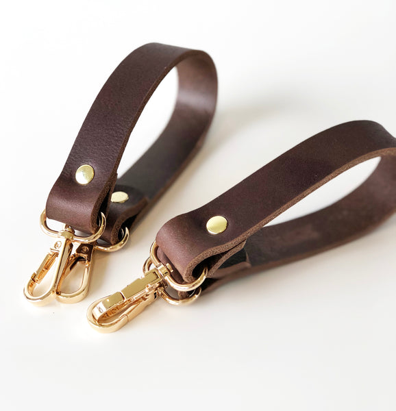 Pair of Leather Pram Clips for Diaper Tote Bag