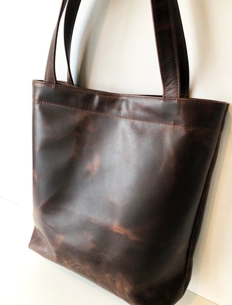 Large Leather Tote Bag handmade in Australia
