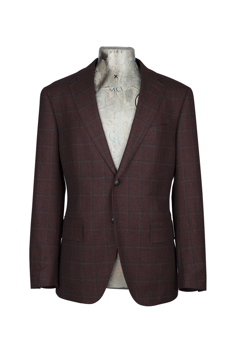 Burgundy Windowpane