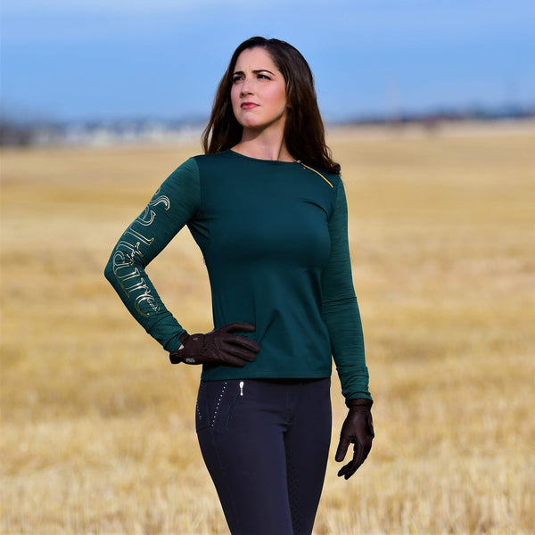 Saltaire Equestrian Technical Long Sleeve - Mid weight
