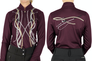 PS of Sweden Harper Long Sleeve - Wine