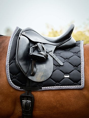 PS of Sweden Monogram 'Black' Saddle Pad - Dressage