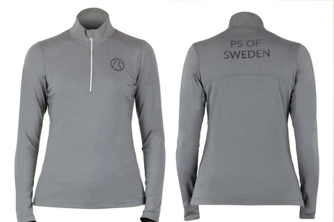 PS of Sweden 'Cornelia' 1/2 Zip - Charcoal