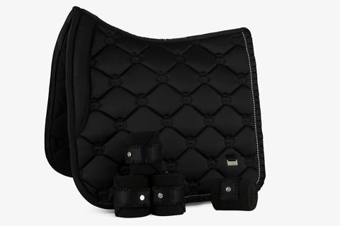 PS of Sweden Beluga Black Ruffle Saddle Pad
