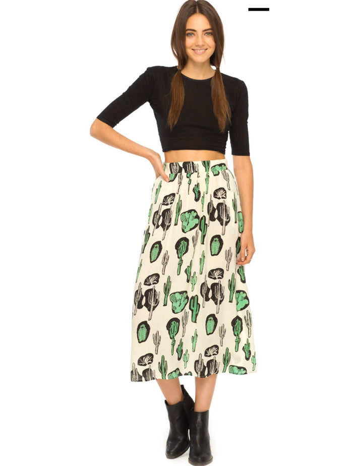 Motel Rocks Olla A-line Midi Skirt Skirts Motel Rocks