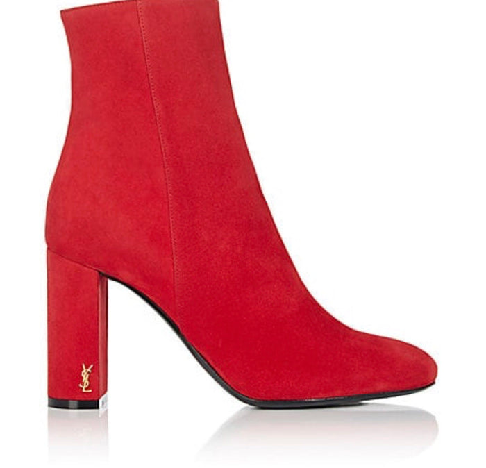 Saint Laurent red suede Loulou boots Shoes Saint Laurent