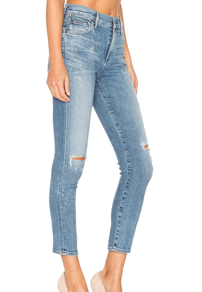 Citizens of Humanity high-rise crop skinny in distressed fizzle Pants Citizens of Humanity
