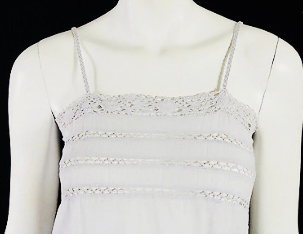 Isabel Marant white cotton lace trim braided strap top Tops Isabel Marant