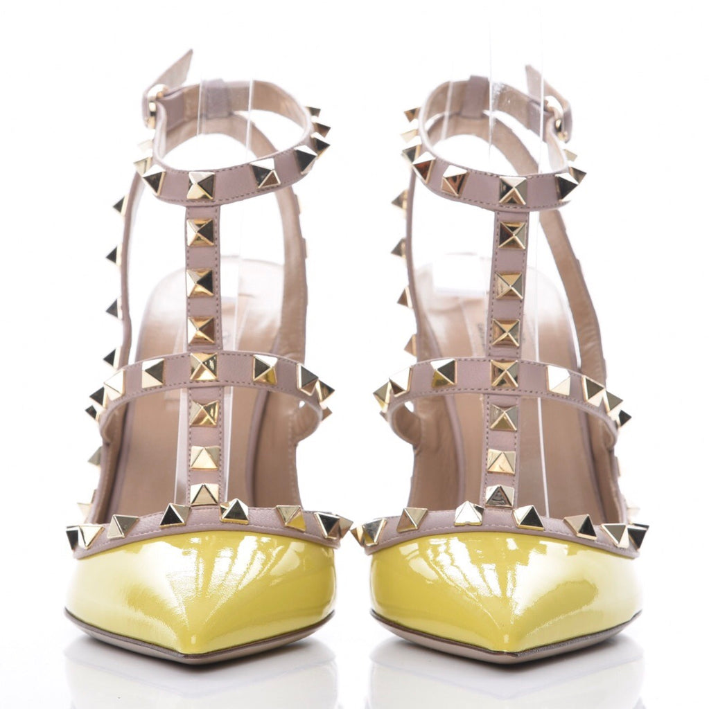 Valentino Naples yellow rock stud pumps Shoes Valentino
