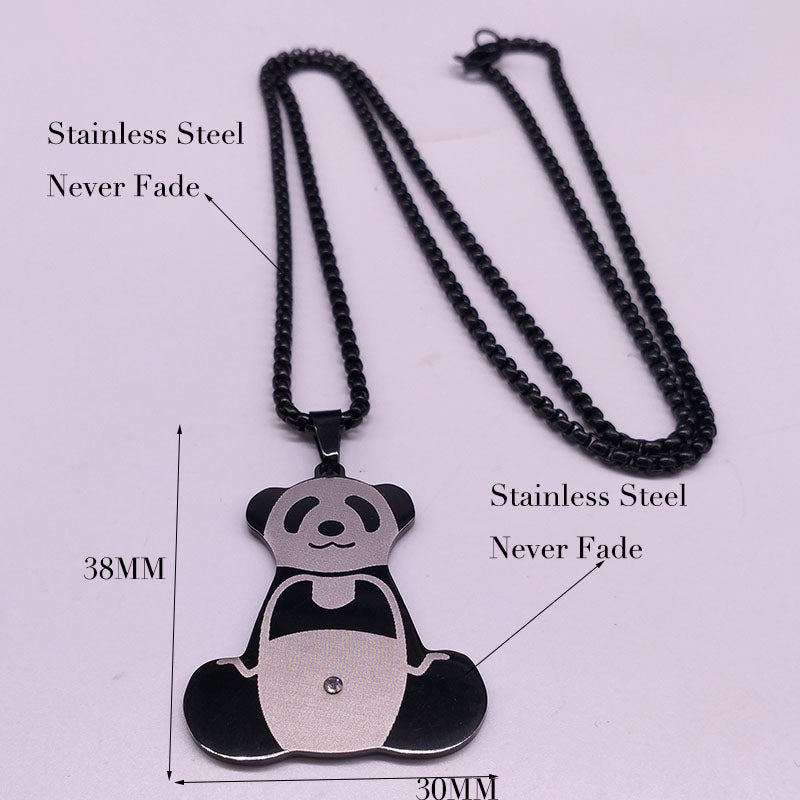Panda Stainless Steel Necklaces 2018 Easter Day Gift