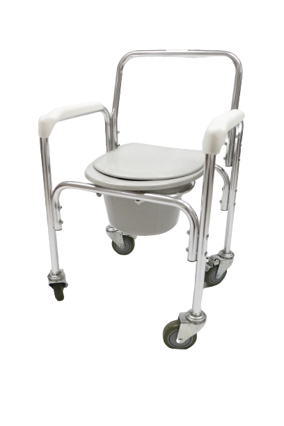 NE0901 Aluminum Commode Chair With Wheels