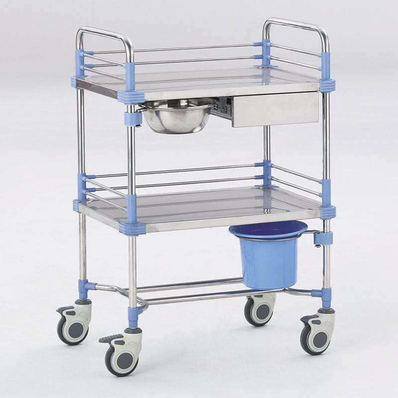 F17 Stainless Three Deck Emergency Trolley