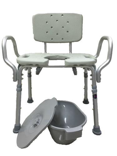 3 in 1 Obese Aluminum Commode Chair