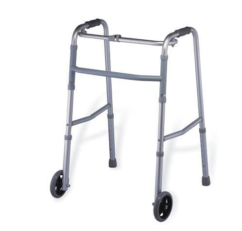 MT912L-5 Aluminum Folding Walker w/ Wheels
