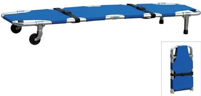 NF-F1 One fold Stretcher with wheels with Safety Straps