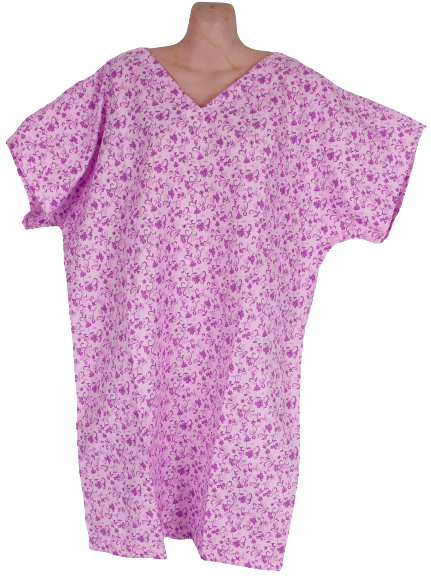 Patient Gown Purple