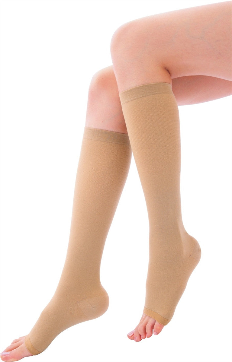 Softmina Compression Stockings Knee High (Sheer)