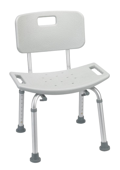 Aluminum Shower Chair with Backrest