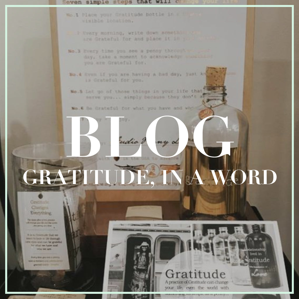 GRATITUDE, IN A WORD