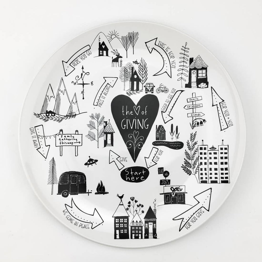Heart of Giving Plate