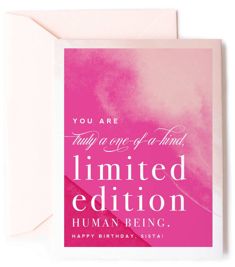 Limited Edition Human Being Birthday Card
