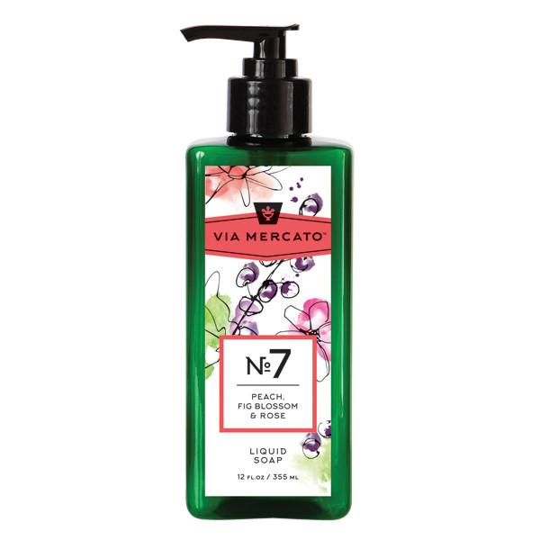 Mercato No. 7 Liquid Hand Soap - Peach, Fig Blossom & Rose