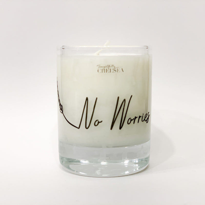 """No Worries"" Lotion Candle - Lavender"