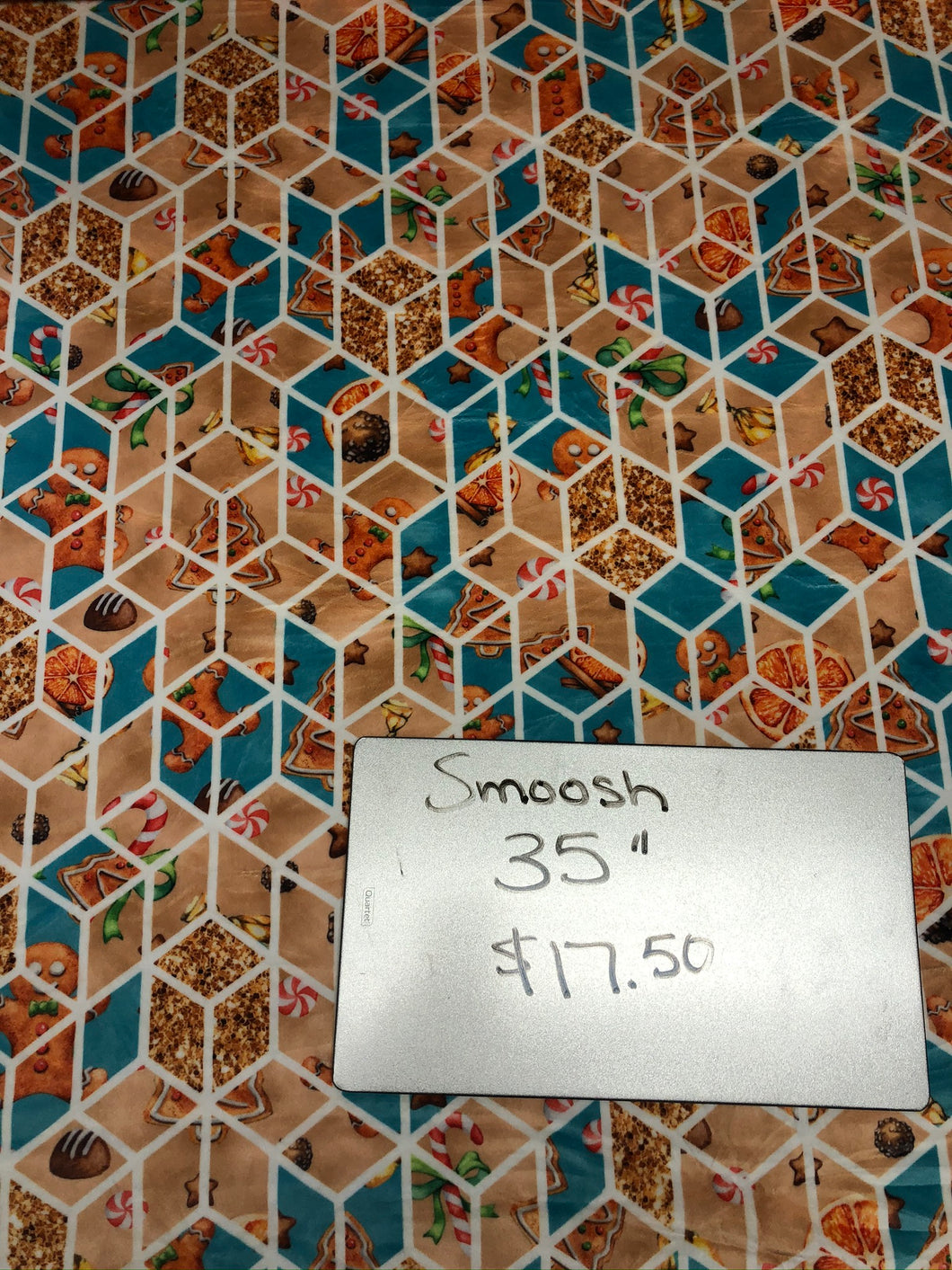 Teal Geo Cookie, 35