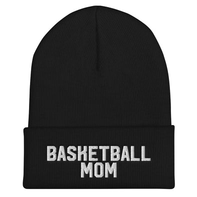 Basketball Mom Cuffed Beanie