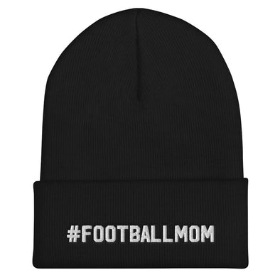 Football Mom - Hashtag Cuffed Beanie