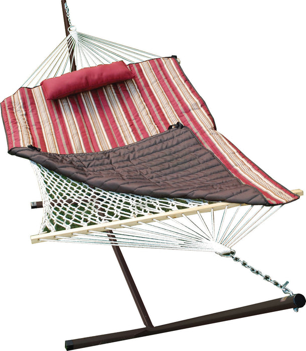 Algoma Net Company - Natural Cotton Rope Hammock With Stand - Key Pet Supplies