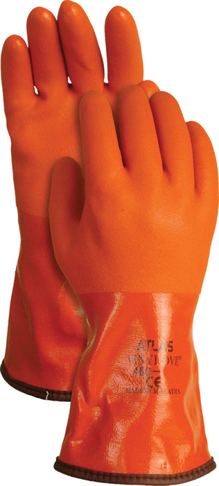 Lfs Glove Fall/winter-Bellingham Snow Blower Insulated Glove- Orange Large - Key Pet Supplies