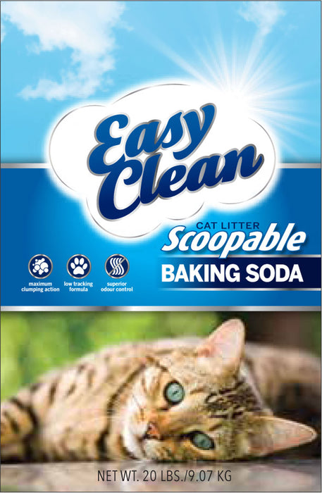 Pestell Pet-Cat-Easy Clean Clumping Cat Litter- W/ Baking Soda 20 Pound - Key Pet Supplies