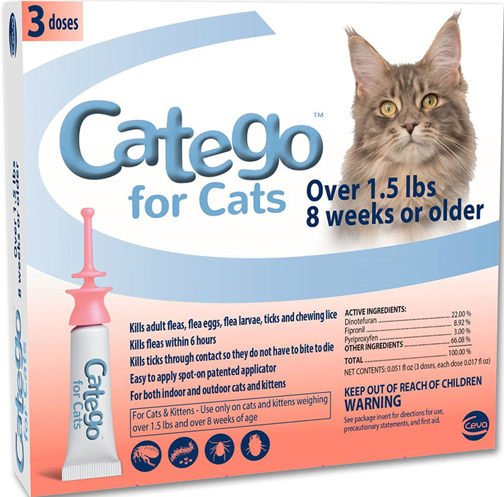 Activphy-Catego For Cats Over 1.5 Lbs- 8 Wks Or Older >1.5lb 3pack - Key Pet Supplies