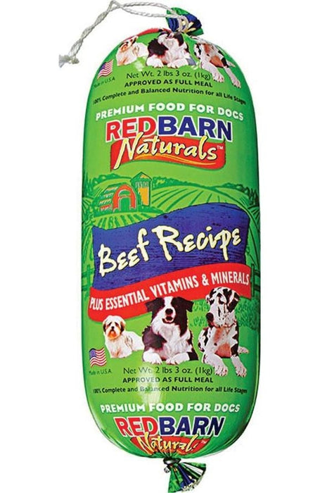 Redbarn Pet Products-food-Natural Roll Dog Food- Beef 2 Lb - Key Pet Supplies