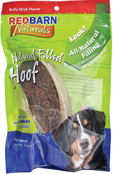 Redbarn Pet Products Inc-Natural Filled Hoof Bully - Key Pet Supplies
