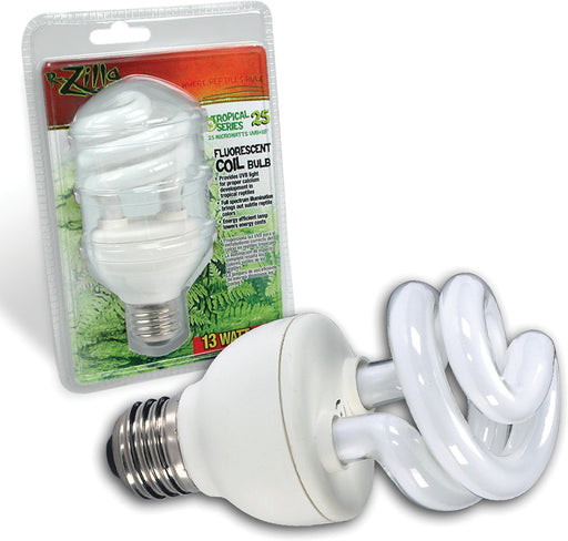 Zilla-Tropical 25 Uvb Fluorescent Coil Bulb 13 Watt - Key Pet Supplies