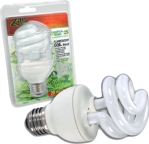 Zilla - Tropical 25 Uvb Fluorescent Coil Bulb - Key Pet Supplies