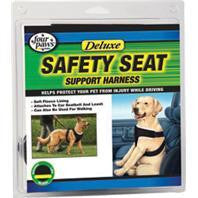 Four Paws Products Ltd-Safety Seat Support Harness- Black Small - Key Pet Supplies